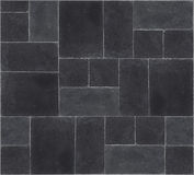 Black stone's floor. Seamless texture of black stones Royalty Free Stock Image
