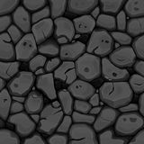 Black stone seamless background Stock Images
