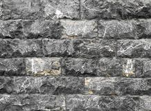 Black stone wall. Stone wall of a house Royalty Free Stock Images