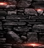 Black stone wall background Royalty Free Stock Photos