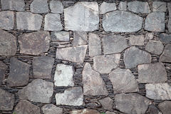 Black stone wall background Stock Photo