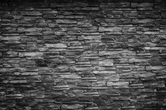 Black stone wall Royalty Free Stock Photography