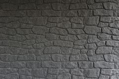 Black stone wall Royalty Free Stock Photos