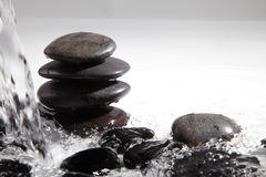 Black stone with water Stock Images