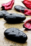 Black stones Stock Image