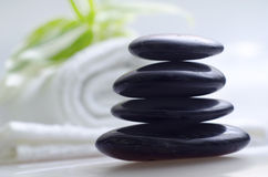 Black stones Stock Photography