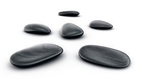 Black stones Royalty Free Stock Photography