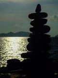 Black stones. Stock Images