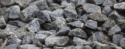 Black stones closeup Royalty Free Stock Photos