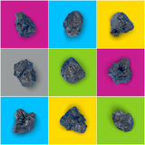 Black stones set Stock Images