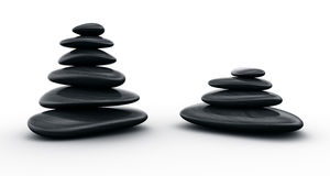 Black stones stacked Stock Photos