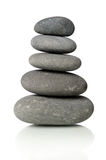 Black Stones Stacked Together Stock Images