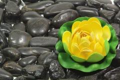 Black stones Stock Photos