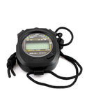Black stopwatch Royalty Free Stock Photography