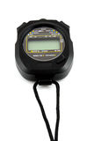 Black stopwatch Stock Images