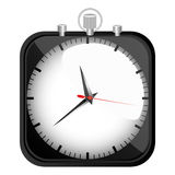 Black stopwatch time icon Stock Images