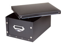 Black storage box Stock Image