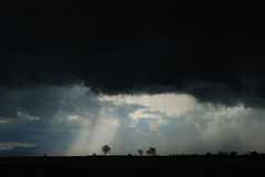 Black storm clouds royalty free stock image