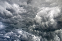 Black stormy clouds Stock Photos