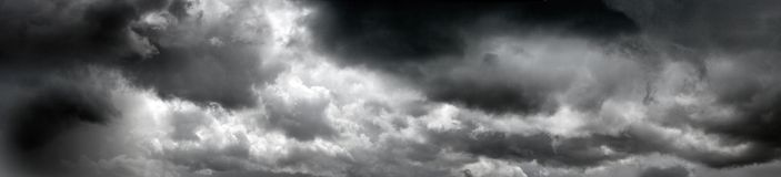 Black stormy clouds Royalty Free Stock Photography