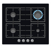Black stove Stock Photography