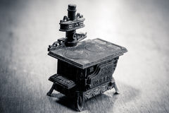 Black stove Stock Images