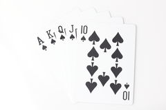 Black Straight Flush Royalty Free Stock Photos