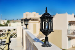 Black street lamp Royalty Free Stock Images