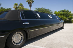 Black Stretch Limo. Usine waiting for guests to arrive Stock Images