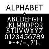 Black Strict Alphabet Stock Images