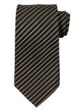 Black striped necktie isolated on white Stock Photos