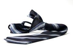 Black striped necktie Royalty Free Stock Photos
