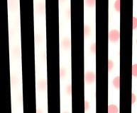 Black stripes, red polka dots Stock Photography