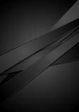 Black stripes tech vector background Stock Images