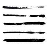 Black strokes of paint Stock Photography