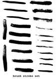 Black strokes Stock Image