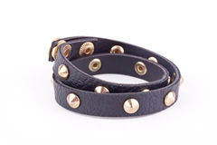 Black studded bracelet Royalty Free Stock Photography