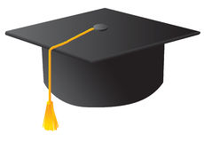 The black student graduation hat Royalty Free Stock Photo