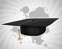 Black student hat Royalty Free Stock Images