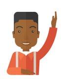 Black Student raising his hand Stock Photos