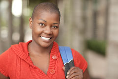 Black student smiling Stock Photos