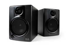 Black Studio Speakers Stock Photos