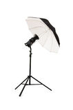 Black studio umbrella Stock Images