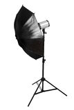 Black studio umbrella isolated Royalty Free Stock Photos
