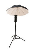 Black studio umbrella isolated Royalty Free Stock Photography