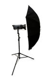 Black studio umbrella isolated Stock Photo