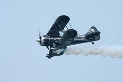 Black Stunt Plane Royalty Free Stock Images