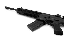 Black sturm rifle. Close-up, isolated over white background Stock Photography