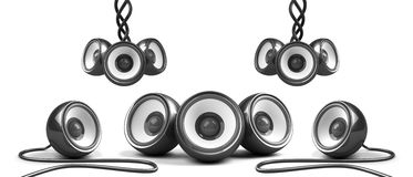 Black stylish audio system Royalty Free Stock Photos
