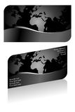 Black stylish business card Royalty Free Stock Photos